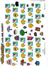 LS52  Mr MAN LITTLE Miss HAPPY  2008 GENERIC SMILERS FULL  SHEET STAMPS