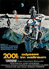 Stanley Kubrick's 2001: A SPACE ODYSSEY rare folded 1sh from 1968