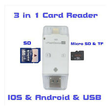 i-Flash Drive External TF/SD Memory Card Reader for iPhone 5S 6 Samsung Android