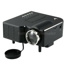 Portable Mini LED Projector Cinema Home Cinema Theater AV VGA USB SD HDMI Black