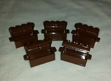 LEGO Treasure Chest Lot of 5 - Brown Kingdom Castle Jewel Gem Box Container