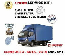 FOR MITSUBISHI CANTER 3C13 6C15 7C15 3.0TD 2006-2011 NEW OIL AIR FUEL FILTER SET