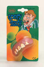 "Goofy ""Austin Powers"" discoloured teeth nerd geek school boy costume accessory"