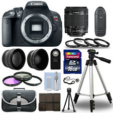 Canon EOS Rebel T5I SLR Camera 700D + 18-55 mm IS STM 7 Lens Kit + 16GB