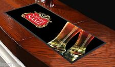 PERSONALISED BEER LABEL BAR RUNNER IDEAL FOR HOME PARTY PUB BEER MAT OCCASION
