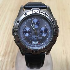 Luxury Beuchat Mens Analog Alarm Chronograph Quartz Watch Hours~Date~New Battery