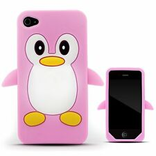 Light Pink Penguin Silicone Case / Cover for Iphone 4 / 4S