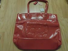 COACH LAURA PATENT LEATHER TOTE HANDBAG 18900 PINK NWT + MAC MINERALIZE LOTION