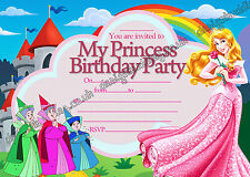 Disney Princess Aurora Sleeping Beauty birthday party invitations pack 10 cards