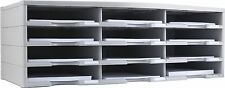 Storex Literature Organizer - 12 Compartment[s] - Recycled - Gray - 1each
