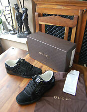Men's Gucci Rebound Low Black Suede Sneakers Trainers Shoes UK 7 EU 41 RRP £320