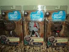 LITTLE BIG PLANET SAD SACKBOY HAPPY KRATOS VIDEO GAME ACTION FIGURE SET NECA PS3