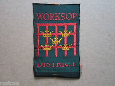 Worksop District Woven Cloth Patch Badge Boy Scouts Scouting