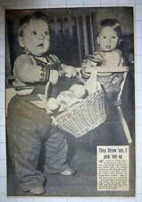 1954 St John's Day Nursery South West London Carol Maclaven Picking Up Toys