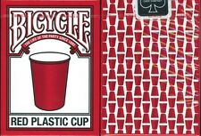 Bicycle Red Plastic Cup Playing Cards Poker New