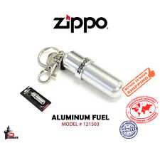Zippo Aluminum Fuel Canister High Polished Reuseable with Key Ring 121503
