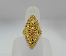22K Yellow Gold Middle Eastern Inspired Marquise Style Ring Size 6.5
