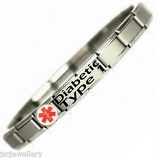 Italian Charm DIABETIC TYPE 1 MEDICAL ALERT BRACELET
