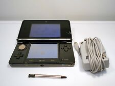 Nintendo 3ds cosmo black system with charger and stylus bundle free shipping