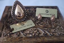 BNWT SAMANTHA WILLS ANTIQUE ROSE GOLD RING & EARRINGS