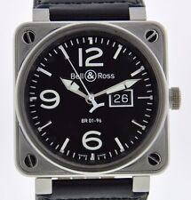 BELL & ROSS BR 01-96 GRANDE DATE - SERVICED 2 YR FELDMAR WATCH COMPANY WARRANTY