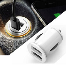 Dual 2 Port USB Mini Car Auto Truck Charger Adapter for iPhone White 12V Power