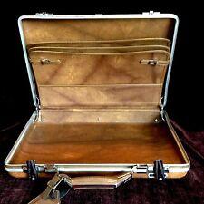 """Vintage American Tourister Briefcase Hardshell Brown Attache 17.5""""X13"""" Portfolio"""