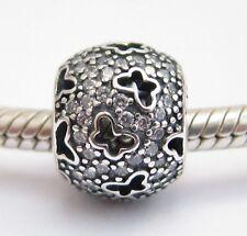 FLYING BUTTERFLIES CHARM Bead Sterling Silver .925 For European Bracelets