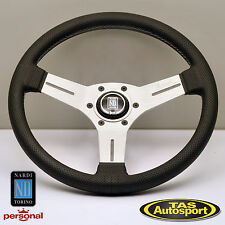 Nardi Competition 330mm Steering Wheel, Perf Leather, White Spoke 6070.33.1091