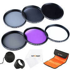 77MM Lens Filter Kit UV CPL FLD ND 2 4 8 + Hood Cap for Canon EOS 6D 5D 700D
