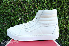 VANS CALIFORNIA SK8 HI LEATHER CUP CA SZ 8 WHISPER WHITE VN 0177GS7