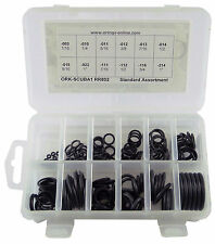 SCUBA/DIVERS O-RING KIT BUNA 12 SIZES 166 PC 90 DURO