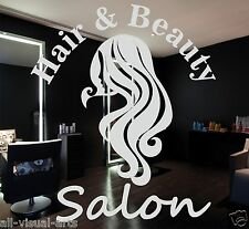 60cm Hair Beauty Salon Hairdresser Window Sign Stickers Graphics - Frosted Vinyl