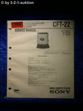 Sony Service Manual CFT 22 Radio Cassette Player (#0785)