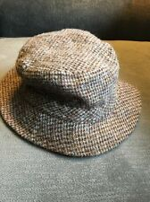LL Bean Harris Tweed 100% Scottish Wool Hat Gore-Tex Bucket Style Size Large