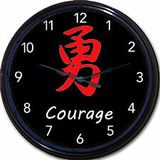 Japanese Kanji Bamboo Clock Joy, Love,Peace, Hope ,Happy, Grace Japan New 10""