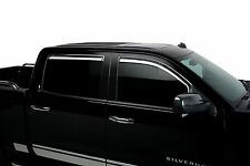 Chrome Trim Window Visors Fits 2014-2017 GMC Sierra Crew Cab (Set of 4)