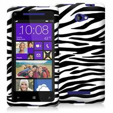Black White Zebra Snap-On Case Cover for HTC Windows Phone 8X New