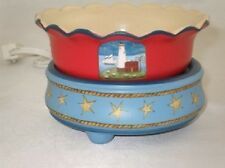 Candle/Tart Warmer (2-Piece ELECTRIC) SCALLOPED LIGHTHOUSE