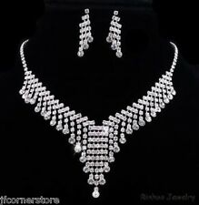 NEW BRIDAL/WEDDING  Crystal/Diamonte Necklace Set **172** ABSOLUTELY BEAUTIFUL