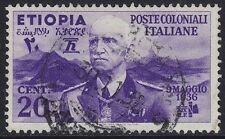 ETIOPIA 1936 - VITTORIO EMANUELE III - C. 20 - USATO