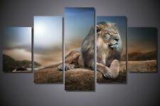 MODERN ABSTRACT LARGE WALL DECOR ART OIL PAINTING LION ON CANVAS NO FRAME 201