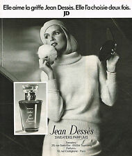 PUBLICITE ADVERTISING 025  1977  JEAN DESSES  parfum femme