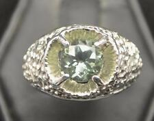 1.935 CT GREEN AMETHYST .925 STERLING SILVER NUGGET MENS RING SZ 10.25 USA MADE