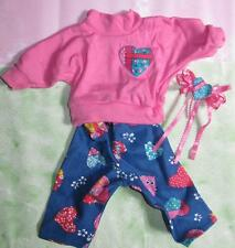 """American Girl Pleasant Company 90s 18"""" Doll CLothes~PINK PATCH LEGGINGS T-SHIRT"""