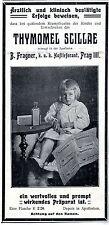 Hustensaft für Kinder Apotheker Frangner Prag Historische Annonce 1909