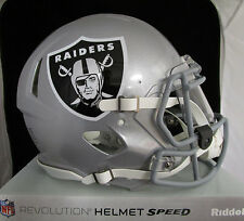 OAKLAND RAIDERS Full Size AUTHENTIC SPEED Helmet - With VISOR (NFL LICENSED)