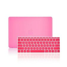 "2 IN 1 PINK Matte Case for Macbook 12"" Retina Model A1534 with Keyboard Cover"