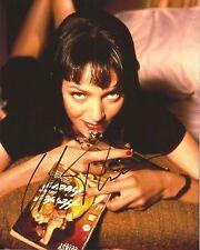 UMA THURMAN Signed 8 x 10 PULP FICTION Photo Autograph w/ COA AUTO SEXY PIC !