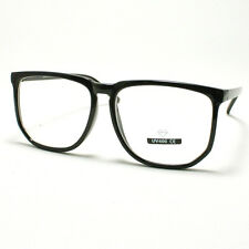 Unique Square Eyeglasses Geek Nerdy Fashion Clear Lens Eyewear BLACK